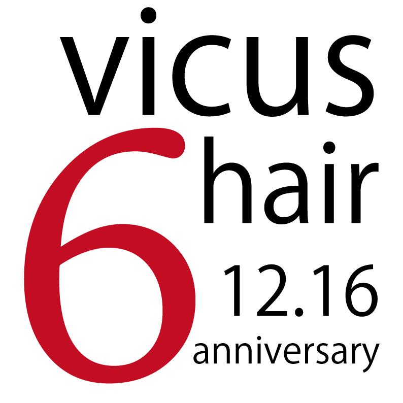 12月16日、[vicushair]は6周年☆