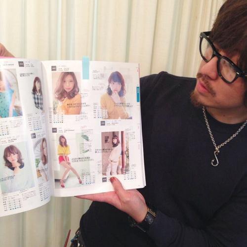 全国版のヘアカタログでタブチのStyleが載ってます☆