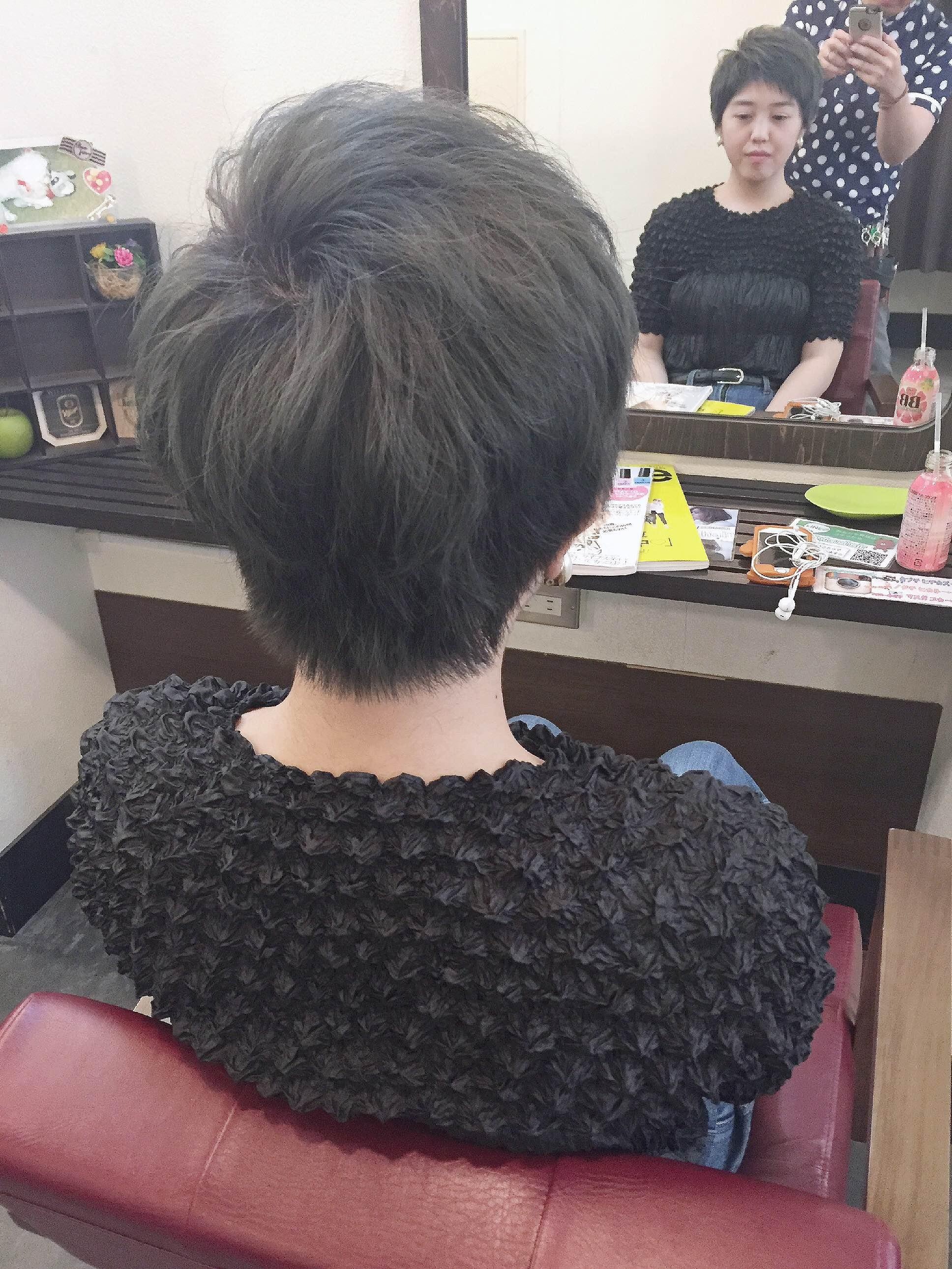 夏髪「ダークグレー」