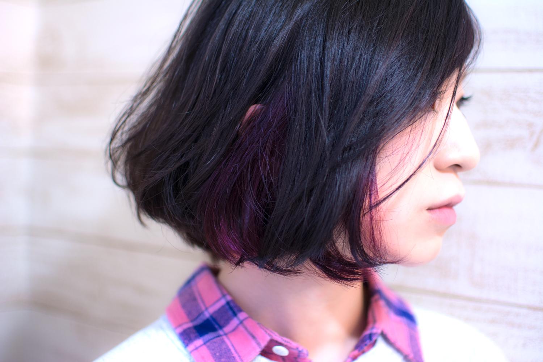 冬髪冬色「Black × Purple」