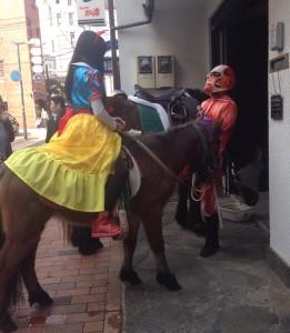 ハロウィンと馬。